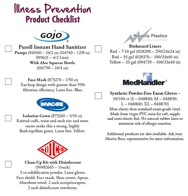 IllnessPreventionProductChecklist
