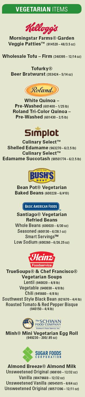 VegetarianItems