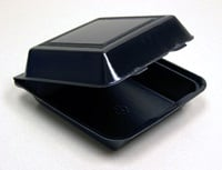 Foodservice To Go Container: BlackHingedContainer