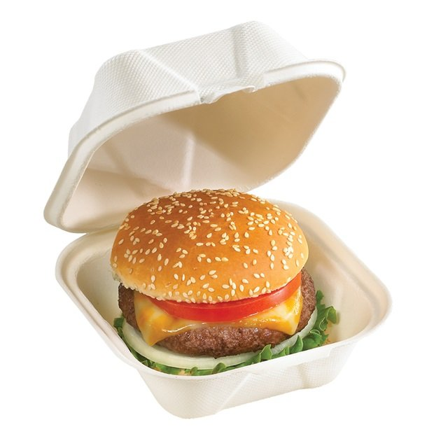 Foodservice To Go Container - Earth Choice Fiber Blend Hingeware