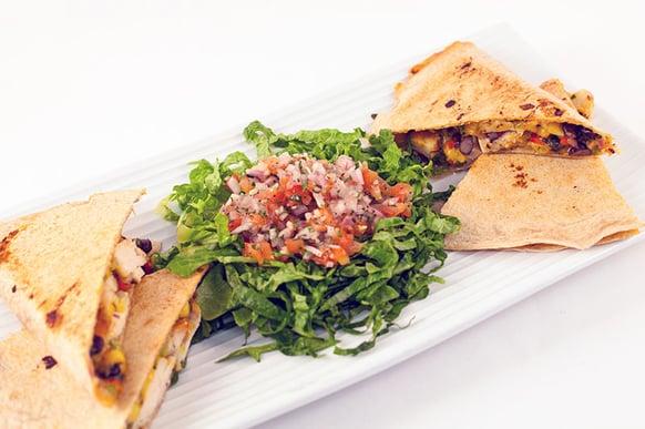 Food Service - 650 Calories - Chicken Black Bean Quesadilla