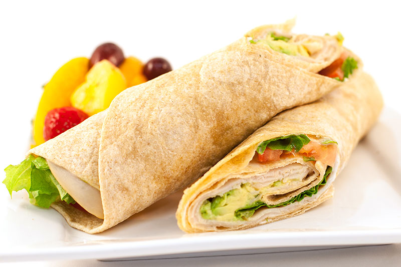 Food Service - 650 Calories - Turkey Avocado Wrap