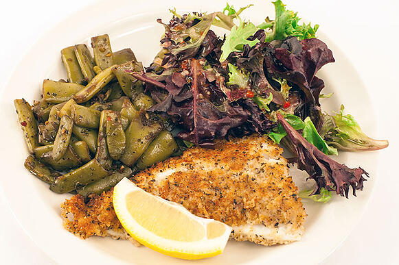 Food Service - 650 Calories - Tuscan Crusted Cod