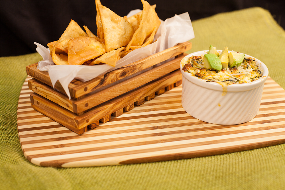 Foodservice recipe - Spin Art Dip with Lavash Triangles