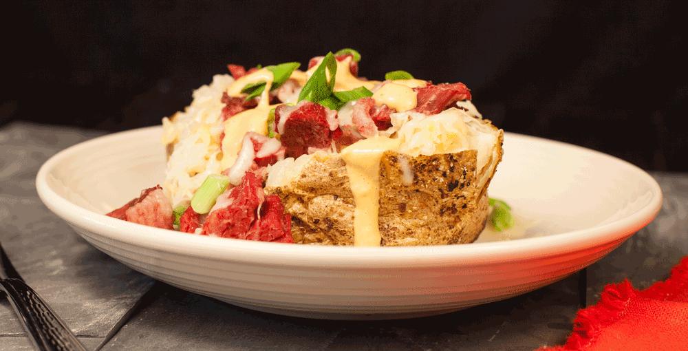 Food Service Recipe - Reuben Stuffed Potato