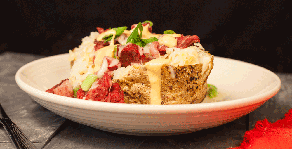 Food Service Recipe - Reuben Stuffed Potato