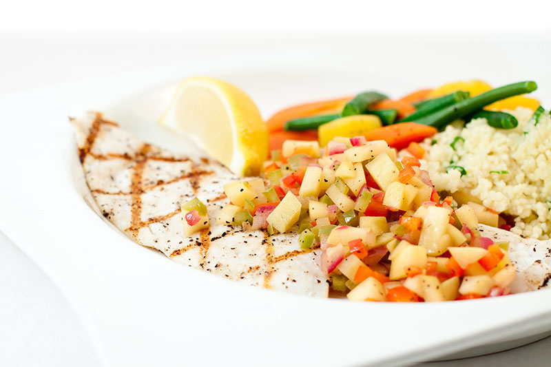Foodservice Recipe - Haddock with Mango Salsa