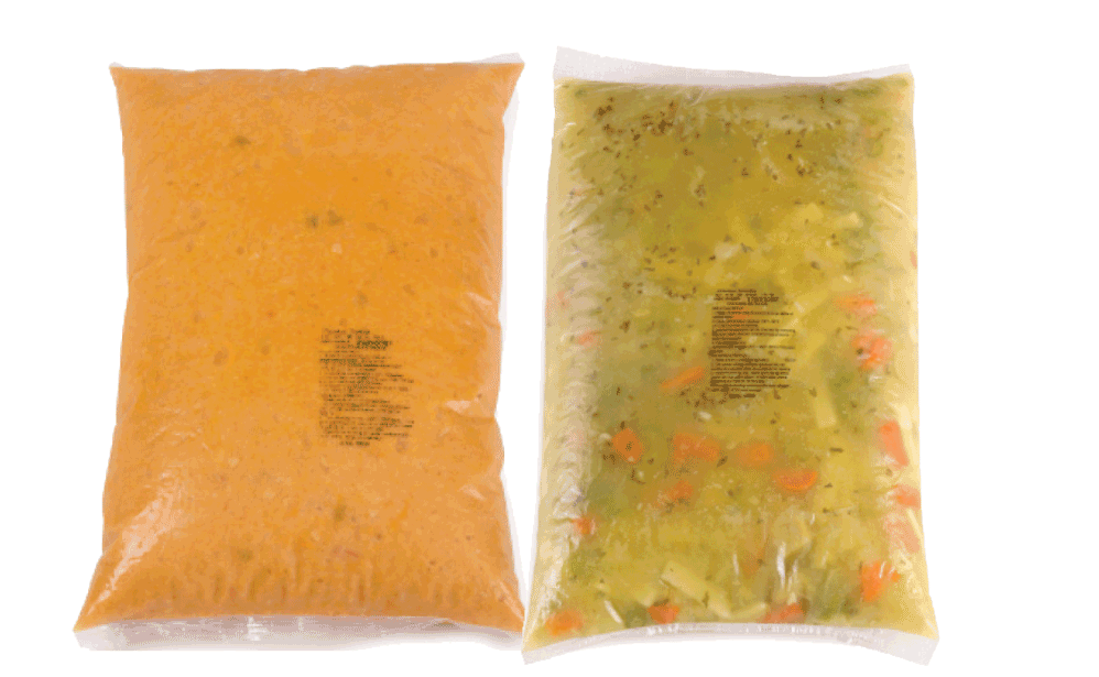 Food service soup bags