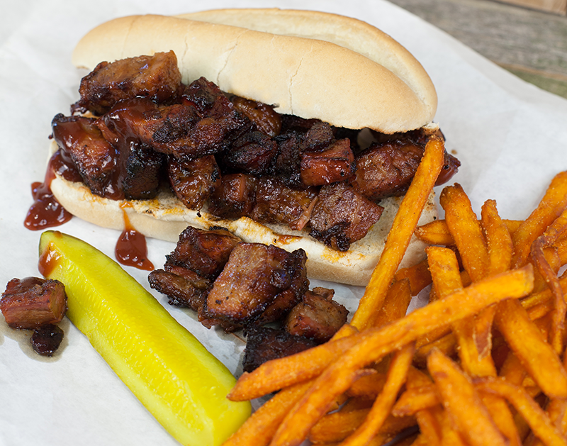 Food service recipe - BBQ Burnt Ends Sandwich