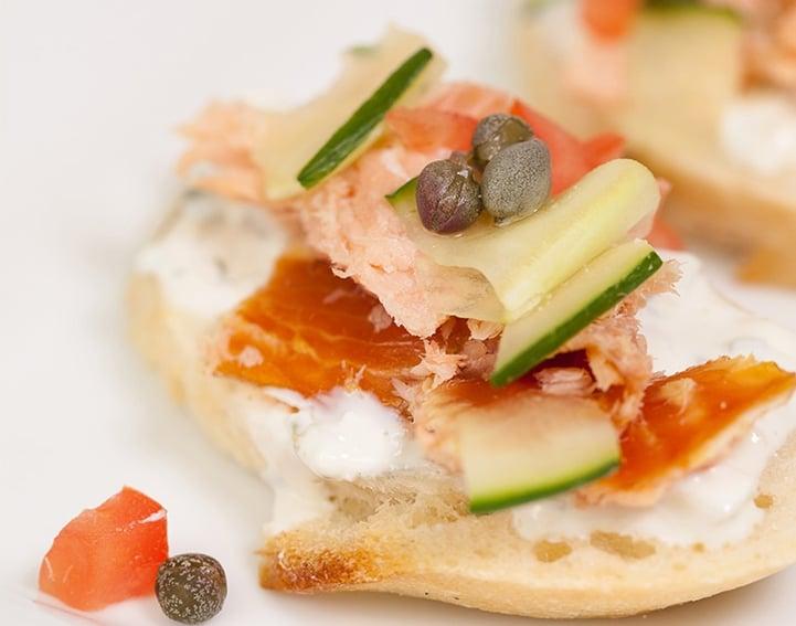 Foodservice Recipe_Smoked Salmon Crostini Appetizer