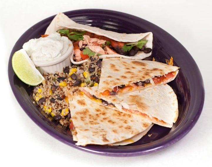 Foodservice Recipe_Smoked Salmon Quesadilla & Taco Plate