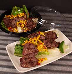 Southwest Steak with Corn Salsa & Grilled Romaine