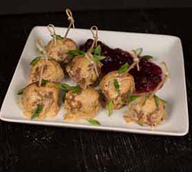 Swedish Meatballs with Cranberry Sauce