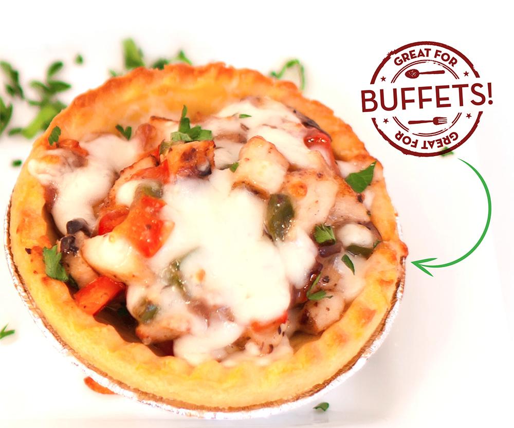 Food service recipe: Chicken & Veggie Tart