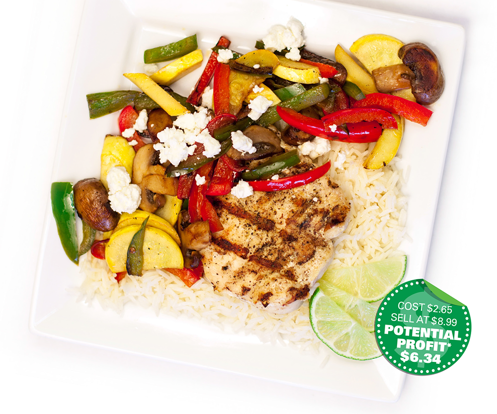 Food service recipe: Mediterranean Lemon Chicken