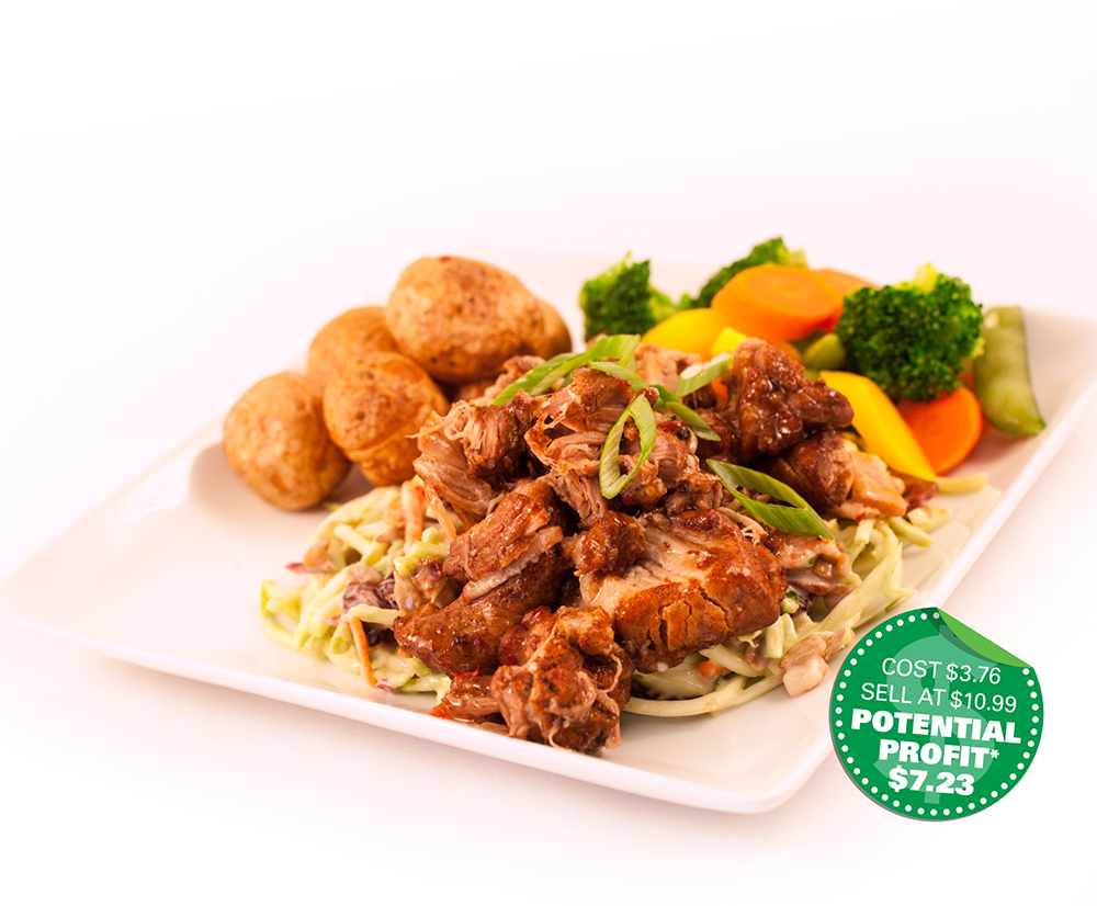 Food service recipe: Spicy Pork with Broccoli Slaw