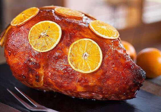 Food Service Menu Item: Orange Glazed Ham